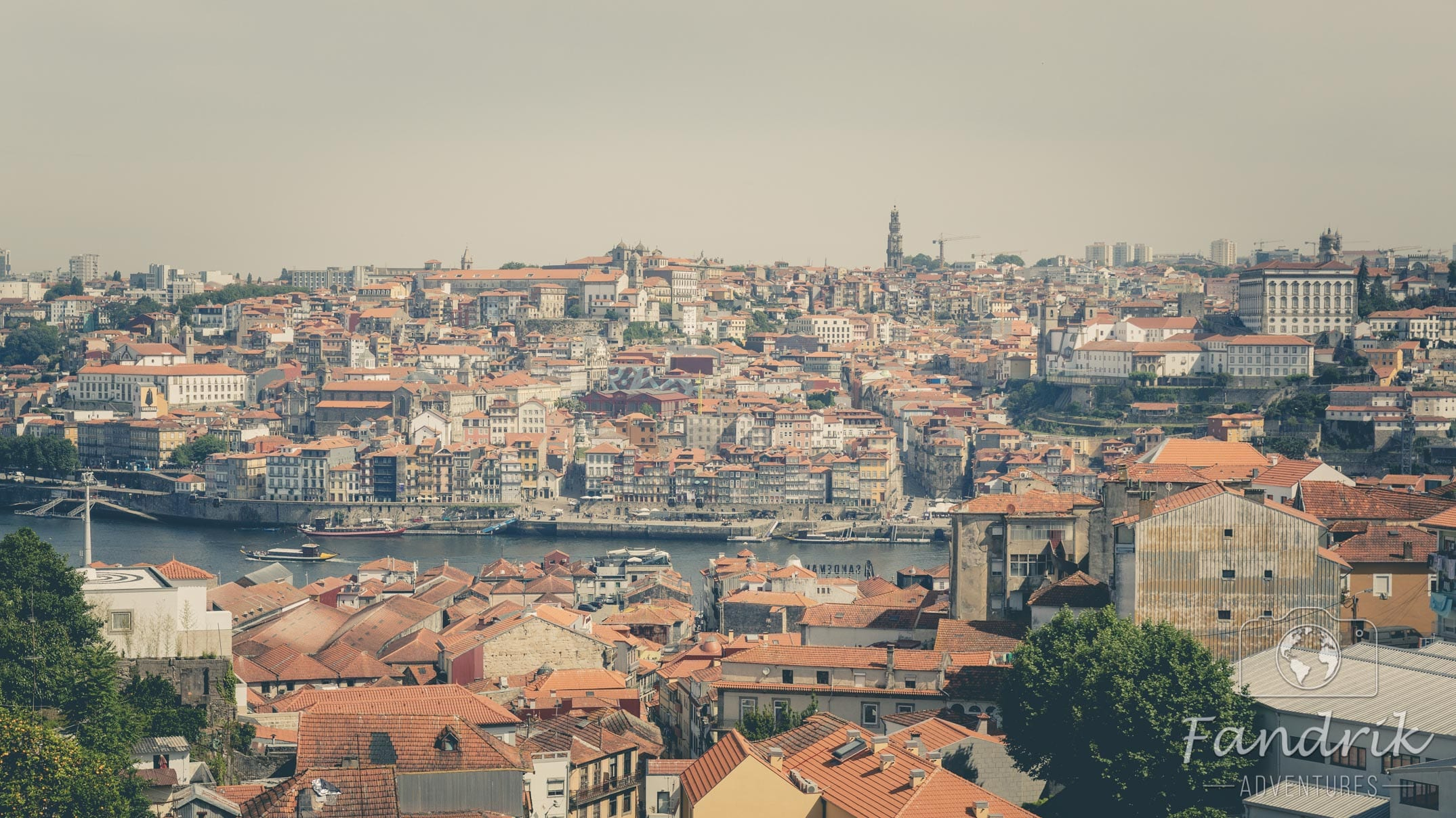 A fascinating view of the old town of Porto.